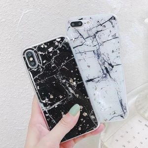 Accessories - NEW iPhone X/XS/7/8/7+/8+ Glitter Marble Case